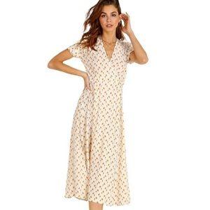 NWT Faithfull The Brand Hana Wrap Midi Dress